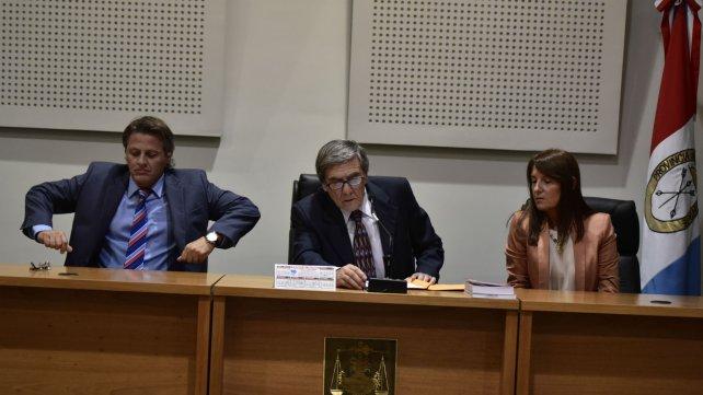 Manfrín, Kessuani y Más Varela, los jueces que presidieron los debates.