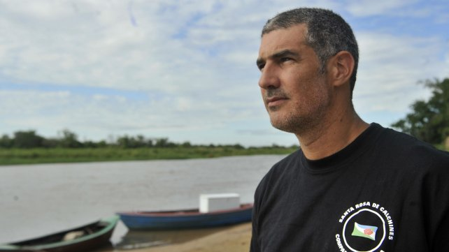Carlos Kauffman, presidente comunal de Santa Rosa de Calchines.