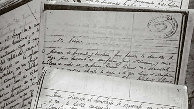 Copias de las actas del Sindicato de Marítimos donde funcionó la Naval.