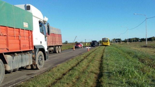 El accidente ocurrió en la ruta 21, cerca de Arroyo Seco.