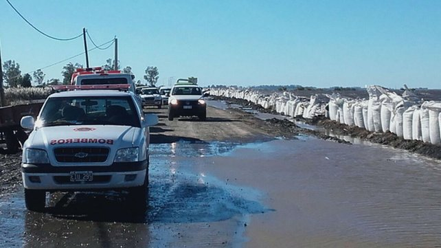 Ruta 90, en jurisdicción de Melincué, esta mañana las defensas están a full.
