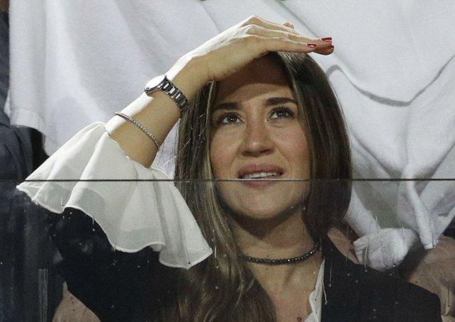 Jimena Barón se mostró en las gradas alentando a su novio Juan Martín Del Potro.