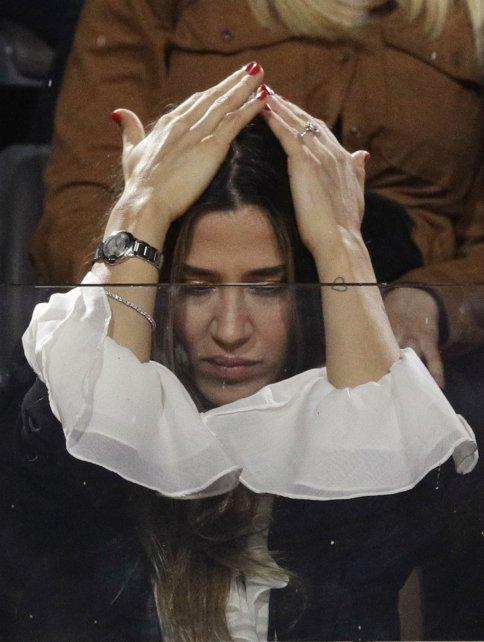 La actriz acompañó al tandilense en el partido que perdió frente a Novak Djokovic.