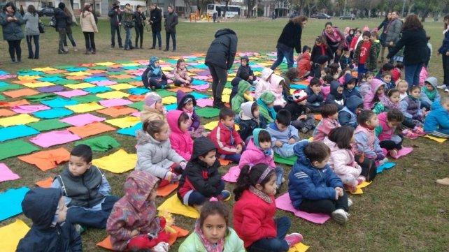 El día de los jardines se celebró en el Parque Yrigoyen.