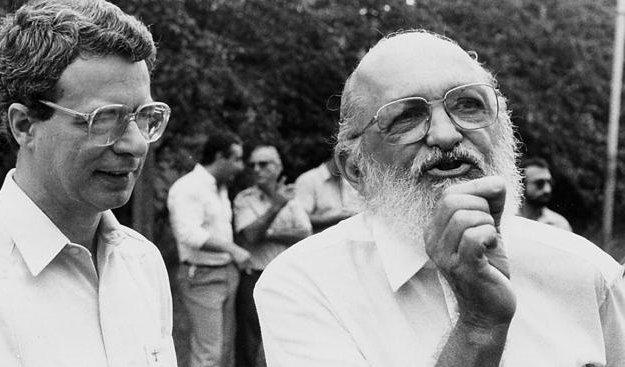 Frei Betto y Paulo Freire, referentes de la educación popular latinoamericana.
