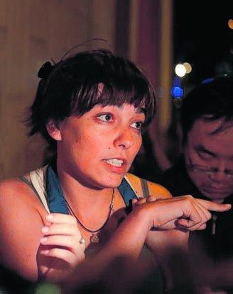 Ana Banfi después del atentado.