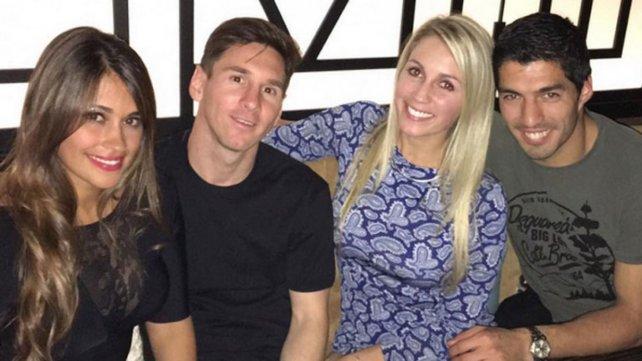 Lionel Messi y su mujer se hicieron muy amigos con Lucho Suárez y su esposa.