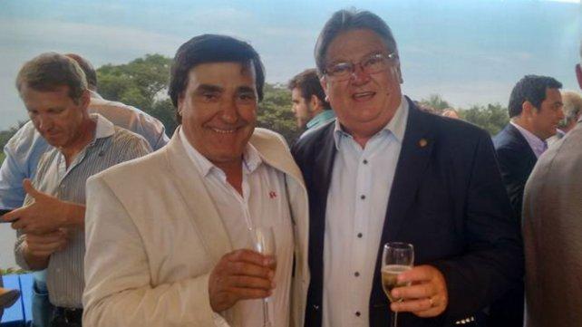 Daniel Sagardia (Diego de Alvear) y el vicegobernador Faccendini.