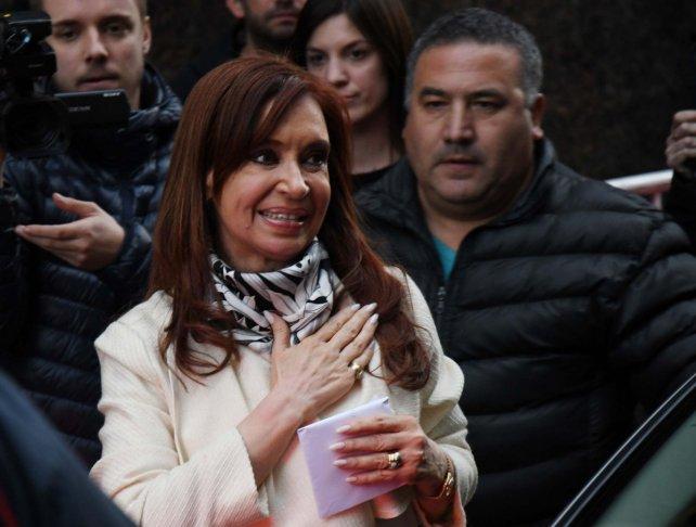 Cristina, en una reunión con intendentes del conurbano en el Instituto Patria.