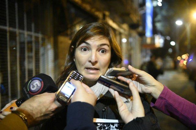 La fiscal de Homicidios Culposos, Mariana Prunotto, en el lugar del accidente.