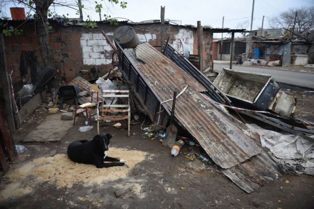 El lugar donde se produjo el homicidio, la zona más postergada de Empalme Graneros.
