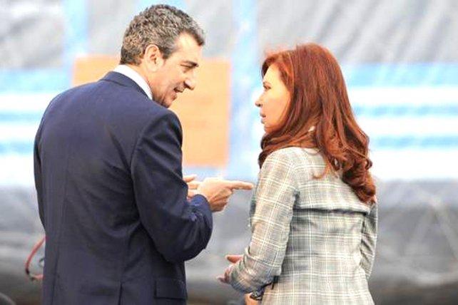 Randazzo y Cristina, en épocas de gestión kirchnerista.