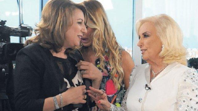 Mónica Fein, intendenta de Rosario, junto a Mirtha.