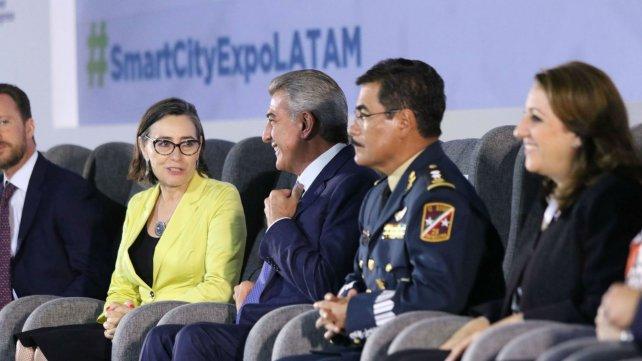 La intendenta, presente en un encuentro en Puebla.