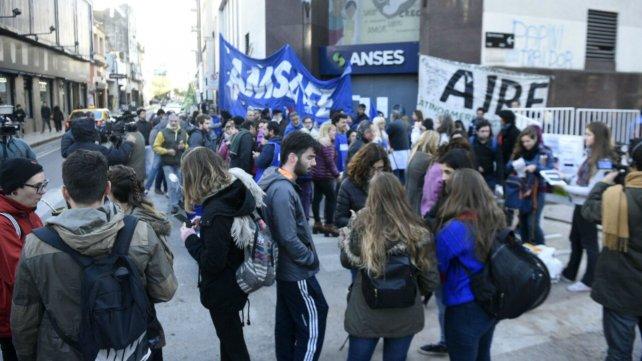 La protesta de Amsafé, en las puertas de Ansés centro.