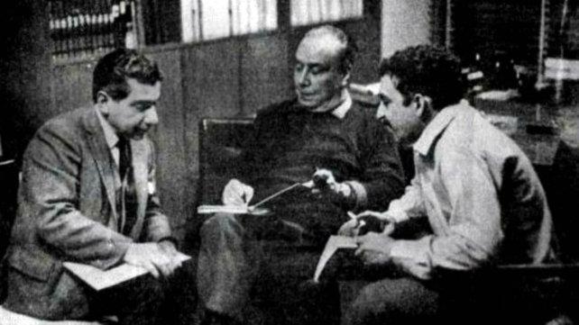 Roa Bastos, Marechal y García Márquez, en 1969.