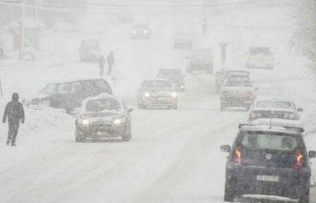 En Loncopué, en Neuquén, la nieve tapó todo.