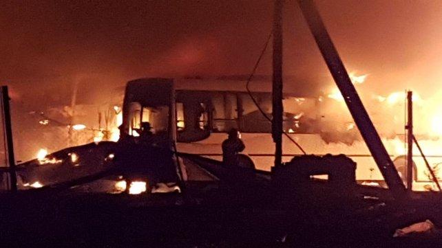 El incendio se desató la noche del jueves 12 de julio.