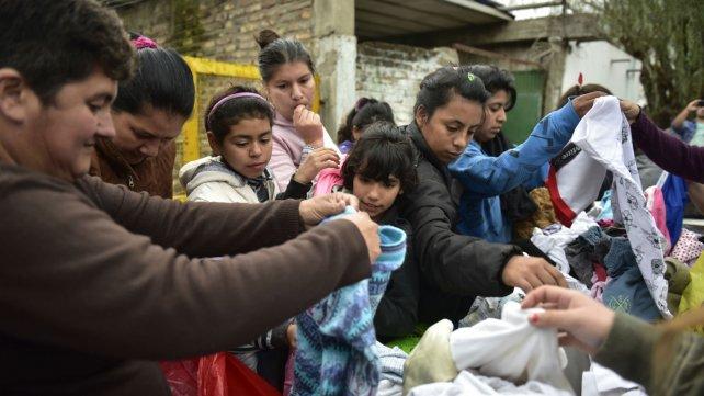 También ayudan con ropa y calzado que se pueda reunir.