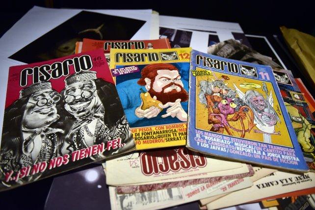 La revista Risario fue parte de la movida cultural de la ciudad. También presente en