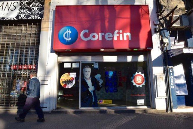 El asalto en Corefin se produjo ayer a la tarde.