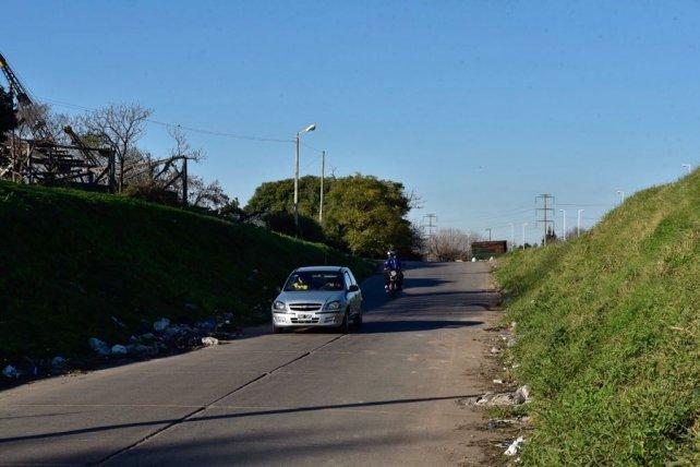 La zona de Acceso Sur y avenida del Rosario, donde sucedió el asesinato.