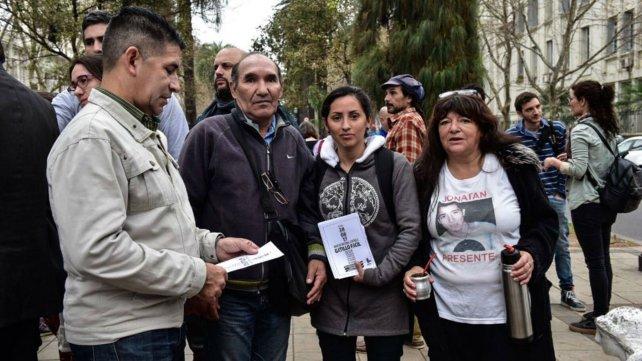 Familiares y amigos de Francos Casco.