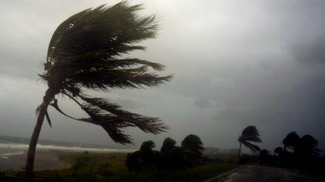 El huracán, cuando llegó a Cuba.