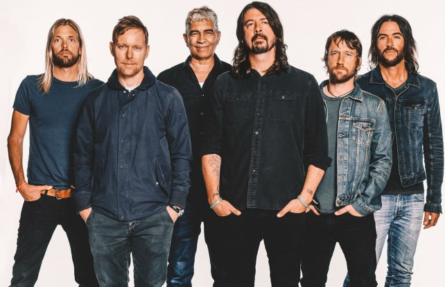 La banda Foo Fighters, que encabeza Dave Grohl.