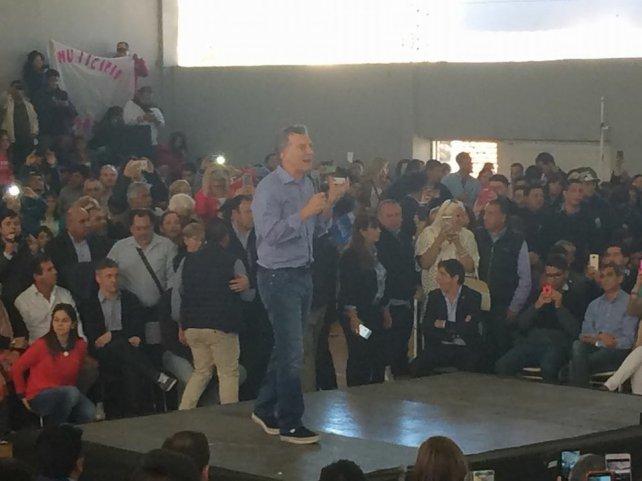 Macri, en La Rioja. Llegó para apoyar a los candidatos de Cambiemos.