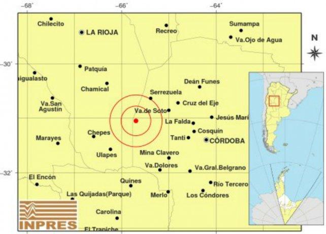 El epicentro, según el Instituto Nacional de Prevención Sísmica (Inpres).